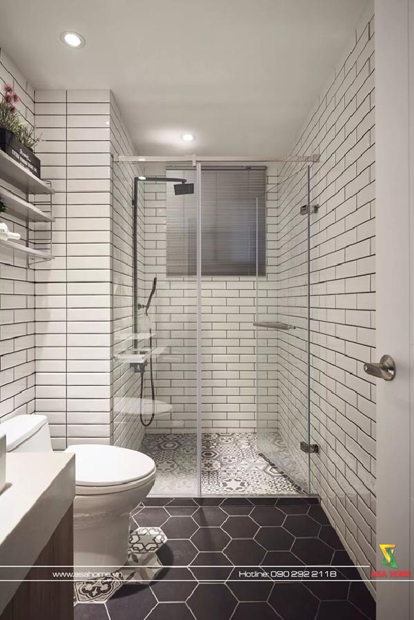 Sự khác biệt giữa gạch lát tường và sàn nhà sẽ là điểm nhấn tạo nên nét riêng cho nhà tắm của bạn, bạn cũng có thể xây mà tắm theo phong cách trong suốt để tăng thêm sự sang trọng và kiểu nhà tắm này cũng rất hợp với những người tự do, phóng khoáng